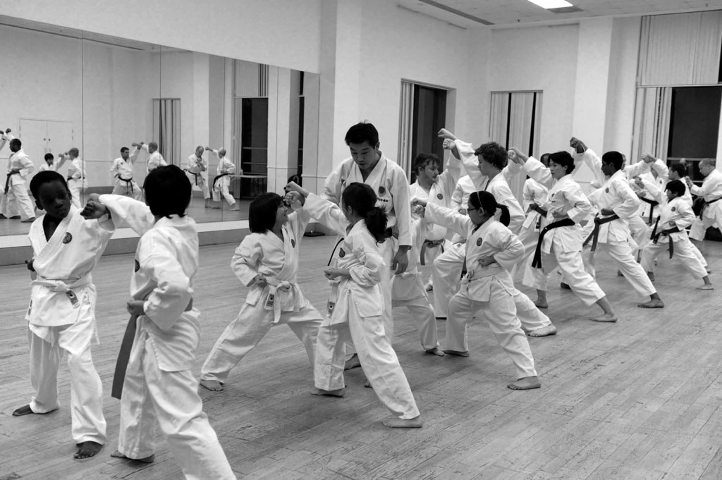 A pre-grading, training session in progress