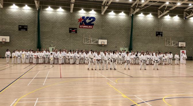 Japan Karate association in England Autumn 2019 Gasshuku